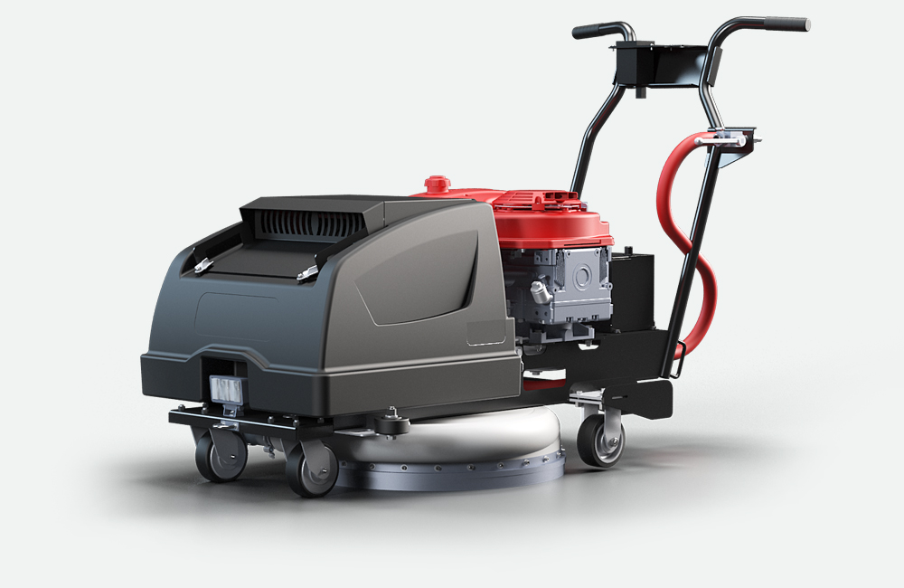 grey hard surface cleaning machine
